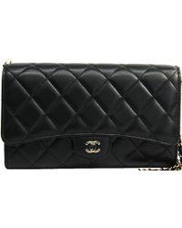 3f3369db967bb5 Chanel Le Boy Wallet On Chain Woc Shoulder Bag Black Leather A80287 ...