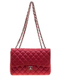 884b5f03fa54ef Chanel Lilac Quilted Leather Jumbo Classic Double Flap Bag in Purple ...