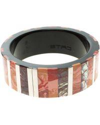 Etro - Inlay Wide Bangle Bracelet 20cm - Lyst