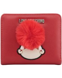 Moschino - Love Red Faux Leather Coin Purse - Lyst