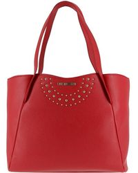 Moschino - Love Red Faux Leather Tote - Lyst