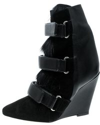 Isabel Marant - Suede And Calf Hair Scarlet Wedge Boots - Lyst
