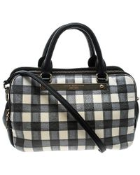 Marc By Marc Jacobs - /white Check Leather Satchel - Lyst