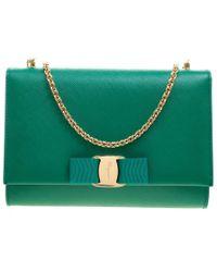 Lyst - Ferragamo Mini Ginny Crossbody Bag in Red 9957cb4d9153e