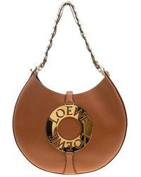 Loewe - Camel Leather Joyce Shoulder Bag - Lyst