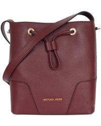 8b14b36525fe MICHAEL Michael Kors - Pebbled Leather Mini Cary Bucket Shoulder Bag - Lyst
