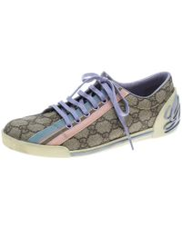 Gucci - Supreme Canvas Web Detail Sneakers - Lyst