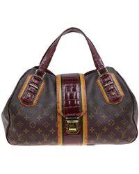 76650ad1d2c4 Louis Vuitton - Monogram Limited Edition Bordeaux Mirage Griet Exotic Bag -  Lyst