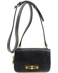 Marc By Marc Jacobs - /black Leather Flap Crossbody Bag - Lyst