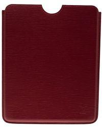 Louis Vuitton - Carmine Epi Leather Ipad Case - Lyst