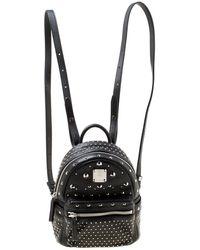 MCM - Leather X Mini Studded Strak-bebe Boo Backpack - Lyst