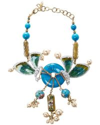 Dior - Asian Inspired Butterfly Flower Embellished Statement Bracelet 21 Cm - Lyst