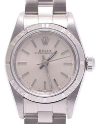 Rolex - Stainless Steel Oyster Perpetual Women's Wristwatch 24mm - Lyst