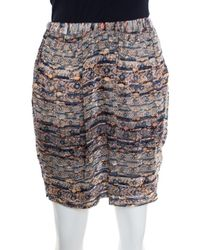 Isabel Marant - Multicolor Aztec Print Fil Coupe Mini Skirt M - Lyst