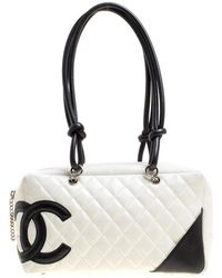 ef3cf0c1a0a6 Chanel - Pre-owned Cambon White Leather Handbags - Lyst