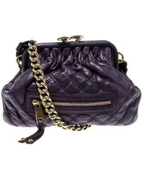 Marc Jacobs - Leather Mini Stam Shoulder Bag - Lyst