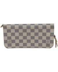 d7a88a3cd6ef Lyst - Louis Vuitton Damier Ebene Accordeon Wallet Brown in Natural