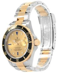 Rolex - Champagne 18k Yellow And Stainless Steel Submariner Men's Wristwatch 40mm - Lyst