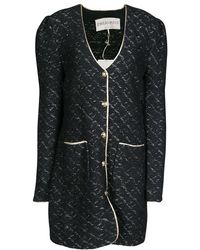 Emilio Pucci - Wool Lurex Knit Detail Coat Xl - Lyst