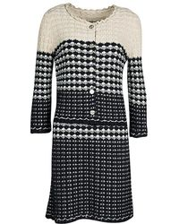 Chanel - And Beige Knit Dress And Cardigan Set M - Lyst