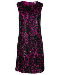 Diane von Furstenberg - Hot Orchid Sequined Kaleb Shift Dress M - Lyst