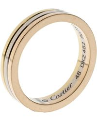 Cartier - Trinity 18k Three Tone Gold Wedding Band Ring - Lyst