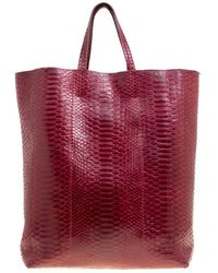 1ba3c9aa80 Céline Red Grained Leather