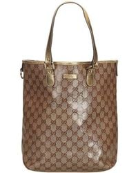 88fefcc375d6 Gucci Donald Duck Gg Supreme Medium Tote Bag in Brown - Lyst
