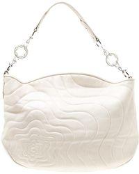 Montblanc Off White Leather Starisma Alcina Hobo