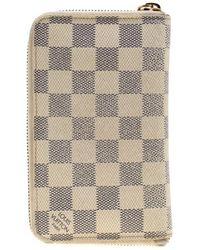 Louis Vuitton - Damier Azur Canvas Zippy Compact Wallet - Lyst
