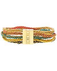 CH by Carolina Herrera - Logo Ed Woven Gold Tone Wide Bracelet 17cm - Lyst