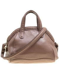 Lancel - Brown Leather La Charmeuse Top Handle Bag - Lyst