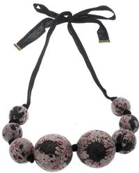 Louis Vuitton - Multicolor Beaded Fabric Tie- Up Statement Necklace - Lyst