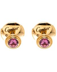 Cartier - Saphirs Legers Pink Gold And Pink Sapphires Earrings - Lyst