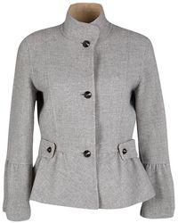CH by Carolina Herrera - Wool Peplum Coat M - Lyst