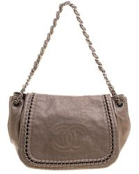 Longchamp Bronze Patent Leather Convertible Tote Bag in Metallic - Lyst b3dc2724e9770