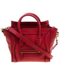 Céline - Grain Leather Nano Luggage Tote - Lyst