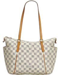 4cefa828594a Lyst - Louis Vuitton Authentic Hampstead Pm Tote Bag Damier Azur ...