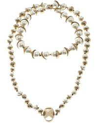 Dior - Mise En Faux Pearl Gold Tone Necklace - Lyst