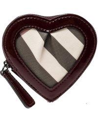 Burberry - Nova Check Pvc Heart Coin Purse - Lyst