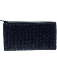 Bottega Veneta - Intrecciato Leather Trifold Continental Wallet - Lyst
