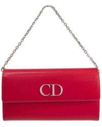 Dior - Two Tone Leather Woc Clutch Bag - Lyst