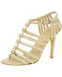 Chanel - Patent Bow Embellished Cage Sandals - Lyst