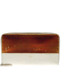 Céline - Off Leather Holographic Zip Up Wallet - Lyst