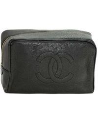 Chanel - Caviar Cc Cosmetic Case - Lyst