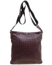 1789432e8de5 Bottega Veneta - Intrecciato Leather Crossbody Bag - Lyst