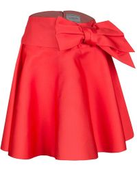 Lanvin - Sash Bow Belt Detail Flared Circular Skirt S - Lyst