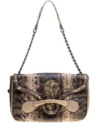 402393286561 Bottega Veneta - Multicolour Lizard And Python Elaphe Rialto Shoulder Bag -  Lyst