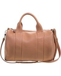 Alexander Wang - Peach Pebbled Leather Rocco Duffel Bag - Lyst