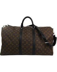 Louis Vuitton - Monogram Macassar Canvas Keepall Bandouliere 55 Bag - Lyst